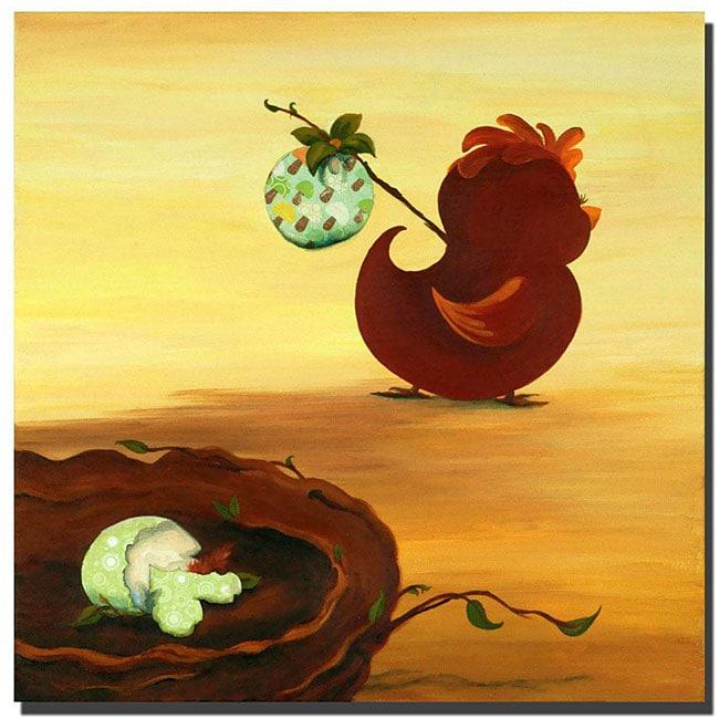 Sylvia Masek 'Leaving the Nest' Ready to Hang Canvas Art