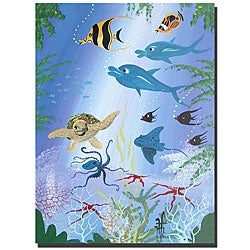Herbet Hofer 'Sea Turtle' Gallery-wrapped Canvas Art
