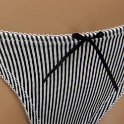 Donna di Capri Multiple Design Stripe Thong - Thumbnail 2