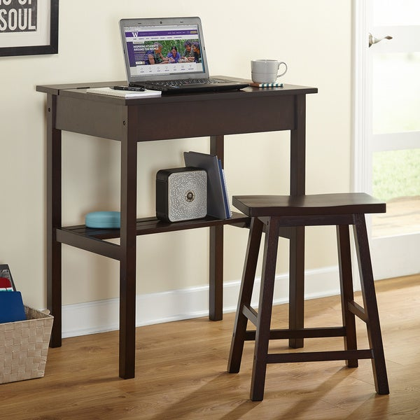 Simple Living Lincoln Study Desk Set - Free Shipping Today - Overstock