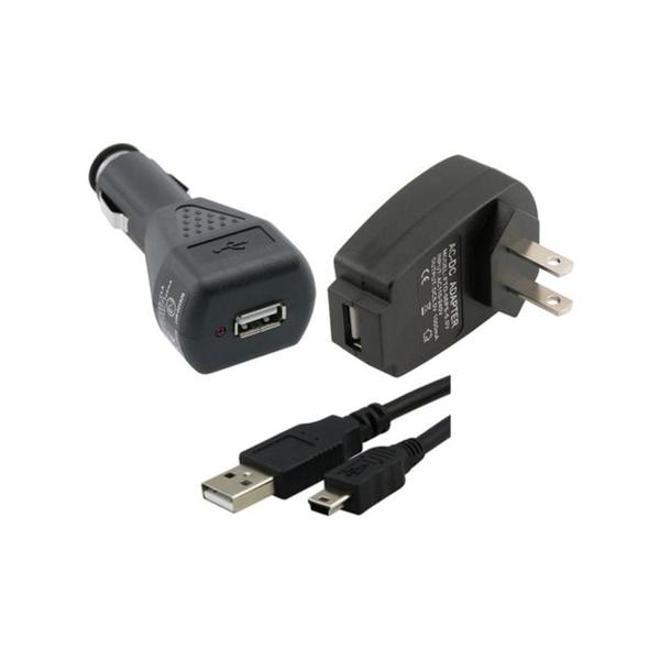 INSTEN USB Travel Car Charger USB Type A to Mini 5-pin Type B Cable