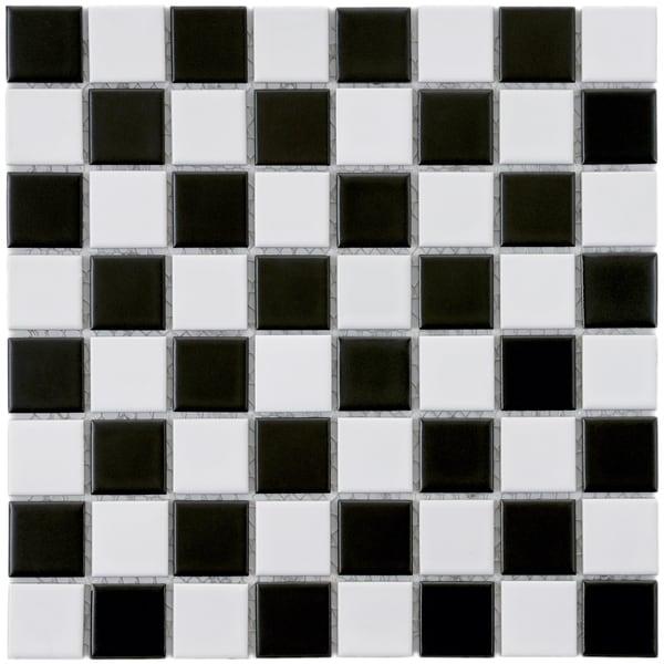 Somertile 12x12 in checker 1 3 8 in black and white for 12x12 white floor tile