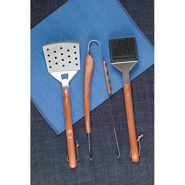 Vineyard Rosewood 3-piece Barbeque Tool Set