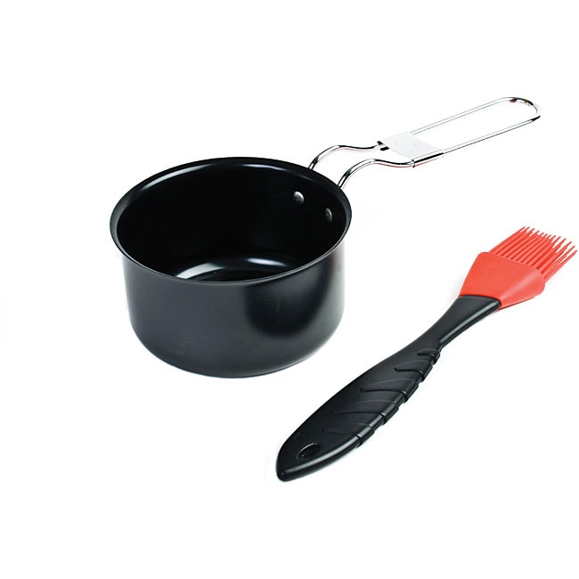 Nonstick Sauce Pot with Silicone Basting Brush