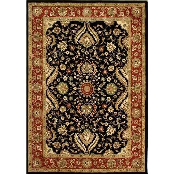 Alliyah Handmade Black New Zealand Blend Wool Rug (8' x 10')