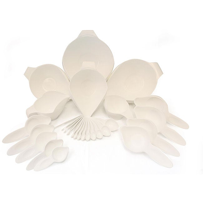 POURfect 27-piece White Bowl and Tool Set - Thumbnail 0
