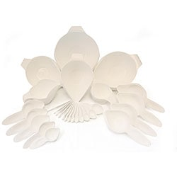 POURfect 27-piece White Bowl and Tool Set