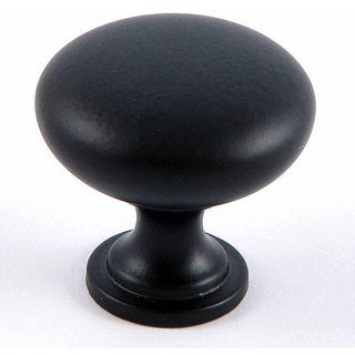 Stone Mill Matte Black Round Cabinet Knobs (Pack of 10)