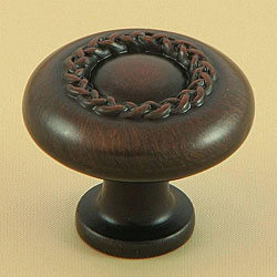 Stone Mill Oil-rubbed Bronze Rope Cabinet Knobs (Pack of 5)