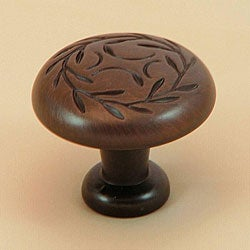 Stone Mill Laurel Oil Rubbed Bronze Cabinet Knobs (Pack of 5)