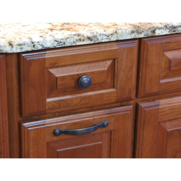 Stone Mill Oil Rubbed Bronze 3-ring Cabinet Knobs (Pack of 25 ...