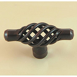 Stone Mill Berkshire Oil-rubbed Bronze Birdcage Cabinet Knobs (Pack of 5) - Thumbnail 0