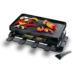 Swissmar KF-77041 8-person Gourmet Black Raclette Grill