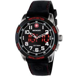 Wenger Men's Swiss Military Nomad LED Compass Watch