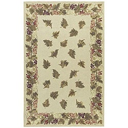 Nourison Hand-hooked Country Heritage Beige Wool Rug (2'3 x 8')