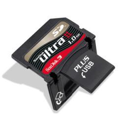 SanDisk 1 GB Ultra II SD Plus Secure Digital Card - Thumbnail 1