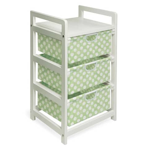 Green Dot Three Drawer Hamper and Storage Unit