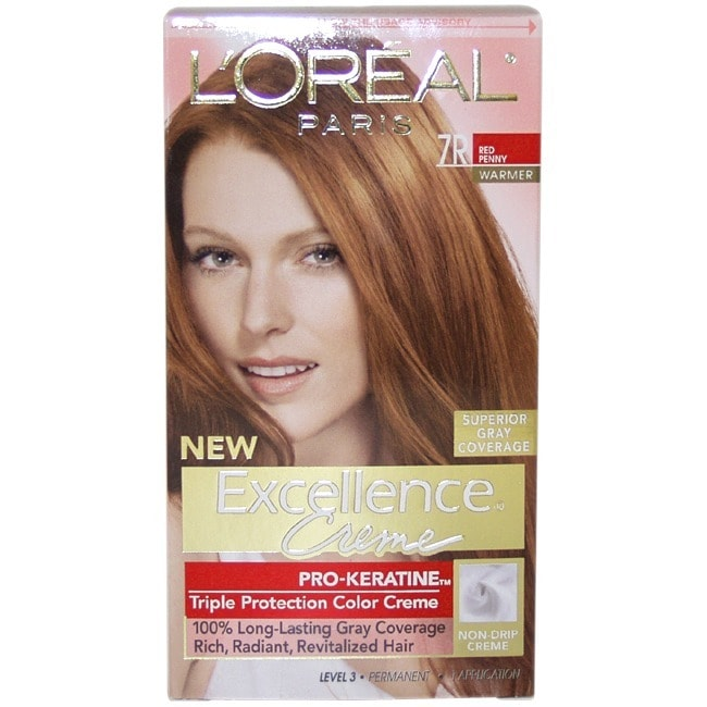 L'Oreal Excellence 7R Red Penny Hair Color