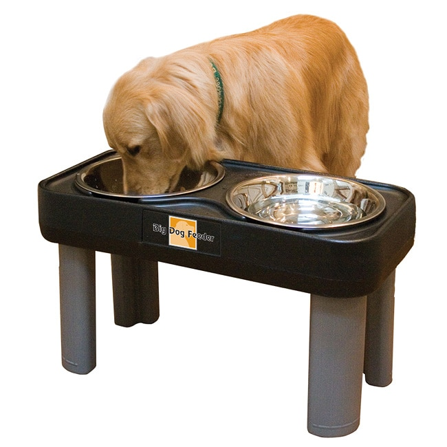Big Dog Feeder Elevated Pet Dish  Free Shipping Today  Overstock