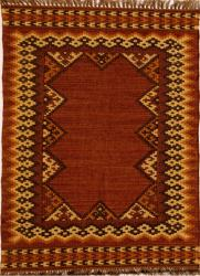 Hand-woven Wool and Jute Rug (4' x 6') - Thumbnail 1