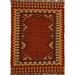 Hand-woven Wool and Jute Rug (8' x 10'6)