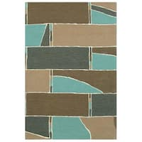 Hand-tufted Stair Wool Rug - 5' x 8'