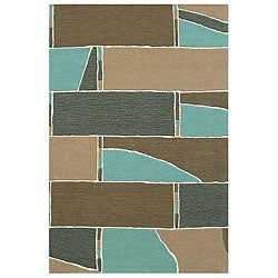 Hand-tufted Stair Wool Rug - 8' x 11' - Thumbnail 0