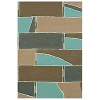 Hand-tufted Stair Wool Rug - 8' x 11'