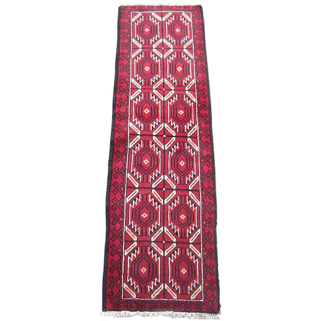Persian Hand-knotted Balouchi Runner (1'10 x 6'3)
