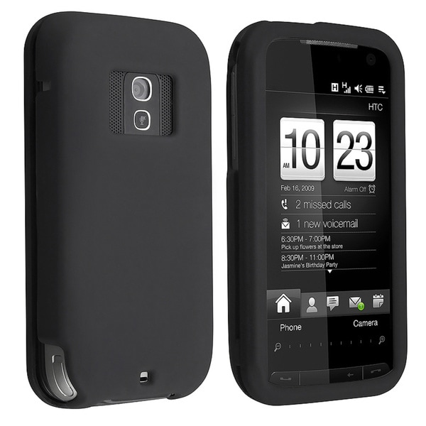 Eforcity Black Snap-on Rubber Coated Case for HTC Touch Pro 2 (CDMA)