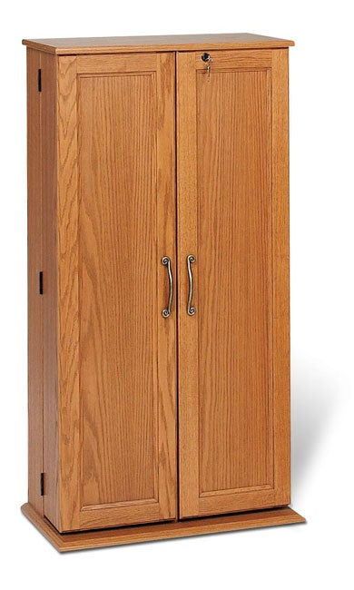 Medium Locking Media Storage with Solid Wood Doors