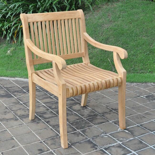 Kokomo Teak Dining Arm Chair - Free Shipping Today - Overstock.com - 12531365