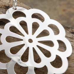 Sterling Silver Spring Flower Dangle Earrings (Mexico)