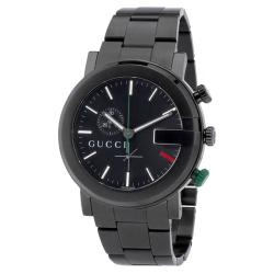 Gucci 101G Men's YA101331 Round PVD-coated Steel Watch