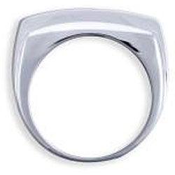 Simon Frank 14k White Gold Overlay Men's Cubic Zirconia 8-liner Ring
