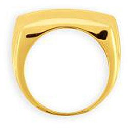 Simon Frank 14k Yellow Gold Overlay Men's 8-liner Cubic Zirconia Ring - Thumbnail 1