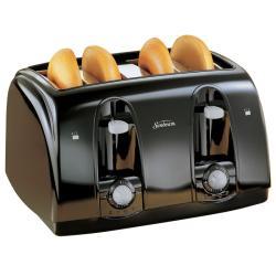 Sunbeam Black 4-slice Wide Slot Toaster