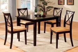 Furniture of America Lloyd Espresso 5-piece Dinette Set