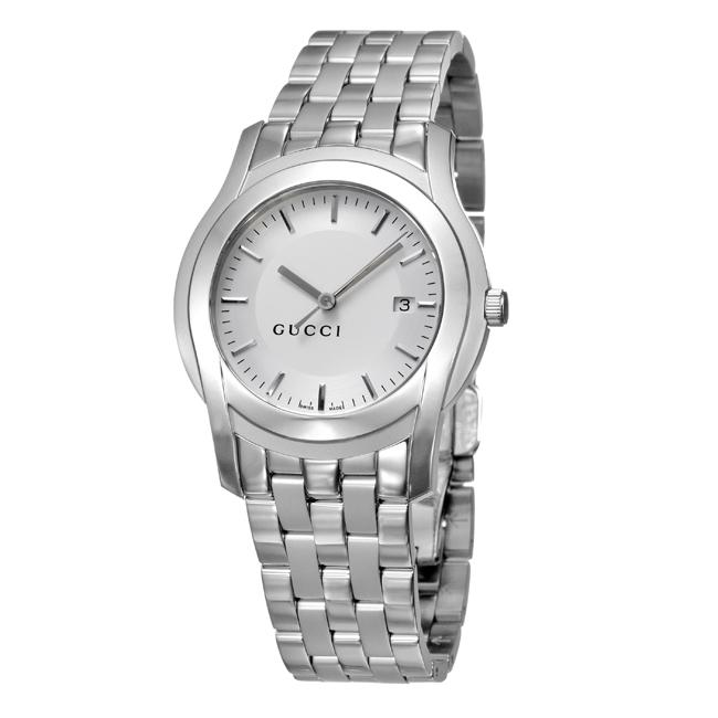 9127f8def4d Shop Gucci 5500 XL Men s Stainless Steel Bracelet Quartz Watch - Free  Shipping Today - Overstock - 4893225