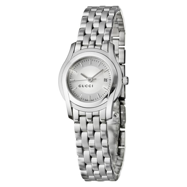 907ccef9659 Shop Gucci Women s 5500L Stainless Steel Bracelet Silver Dial Watch - Free  Shipping Today - Overstock - 4893231