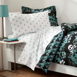 Skulls 7 Piece Full Size Bed In A Bag With Sheet Set