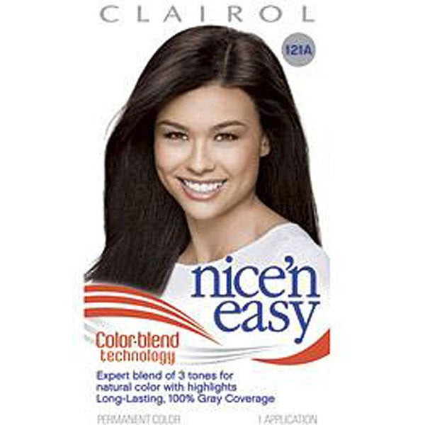 Clairol Nice & Easy #121A Natural Darkest Brown Hair Color (Pack of 4)