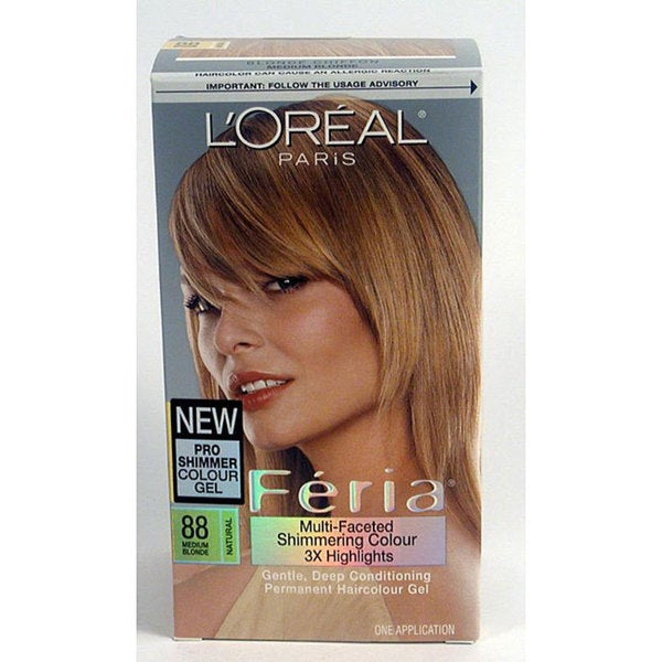 L'Oreal Feria Number 88 Blonde Chiffon Hair Color (Pack of 3 ...