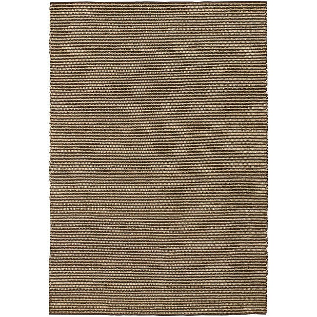 Artist's Loom Hand-woven Natural Eco-friendly Leather Shag Rug - 5' x 7'6