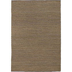 Artist's Loom Hand-woven Natural Eco-friendly Leather Shag Rug - 5' x 7'6 - Thumbnail 0