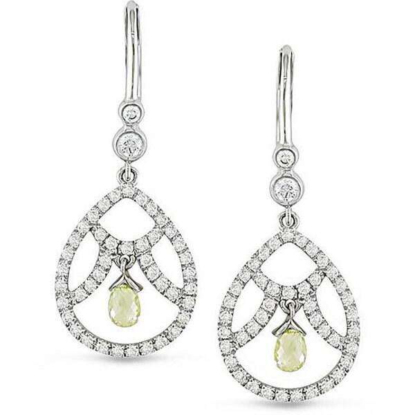 Miadora 18k White Gold 1 1/5ct TDW Vintage Diamond Earrings