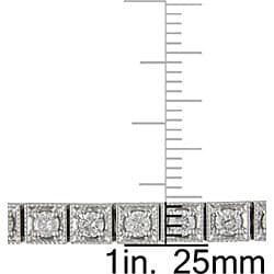 Miadora 14k White Gold 3 5/8ct TDW Diamond Tennis Bracelet - Thumbnail 2