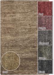 Artist's Loom Hand-woven Casual Solid Natural Eco-friendly Jute Rug (5'x7'6) - Thumbnail 2