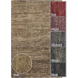 Artist's Loom Hand-woven Casual Solid Natural Eco-friendly Jute Rug (5'x7'6)