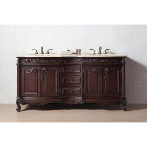 Stufurhome 72 inch Saturn Double Sink Bathroom Vanity